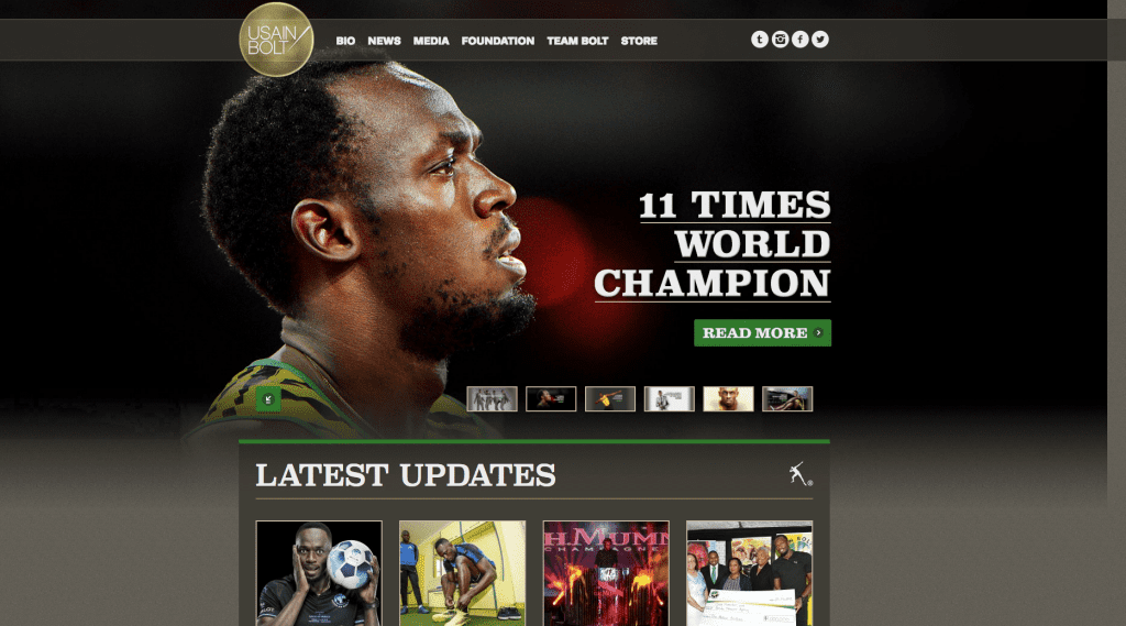 Usain bolt succesvolle websites